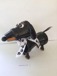 Clay pot Dachshund dog | Doxie Love | Pinterest | Clay Pots ...