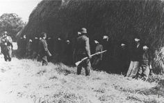 A young German soldier (pictured center left, without helmet) refuses to participate in the execution of 16 Yugoslav civilians. He positioned himself within the group and was executed for disobeying his NCO. He choose death instead of killing hopeless civilians. His name was Josef Schulz.