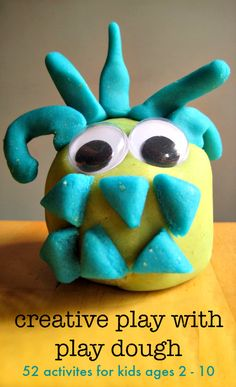 Creative play activities with play dough!