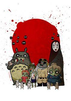 #Ilustración inspirada en los personajes del estudio #ghibli versión #zombie