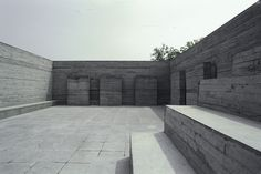 Luyeyuan Stone Sculpture Art Museum (Mrgadava Museum) - Jiakun Architects offset glass ceiling and sides so that natural light shines into exhibition space & illuminate artifacts