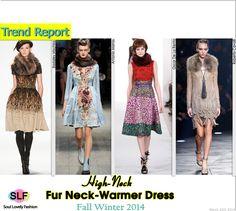 Fur Neck-Warmer Dress  #Fashion Trend for Fall Winter 2014 #FW014 #FallTrends