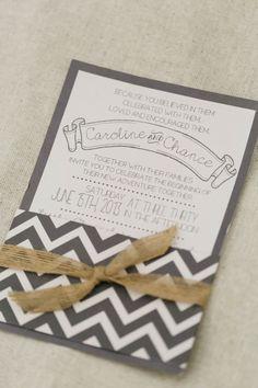 chevron wedding invite http://www.weddingchicks.com/2013/09/16/modern-texas-wedding-2/