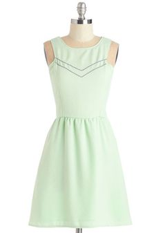Yes to Finesse Dress. Youll agree that this pastel mint-green dress is just the piece of panache youve been looking for! #gold #prom #modcloth