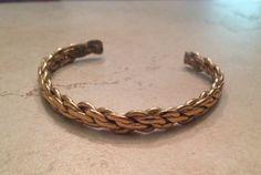 A personal favorite from my Etsy shop https://www.etsy.com/listing/229888084/vintage-sergio-lub-cuff-woven-gold-brass