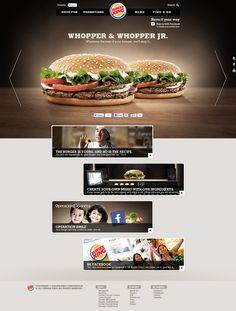 Proposta Plataforma Digital LatAm Burger King by Luiz Vareta, via Behance