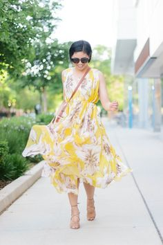 The Only Dress You Need for the Summer , summer trend is yellow, floral maxi dress, summer dress, summer fashion