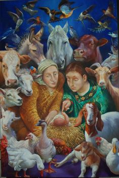 Rosemarie Adcock - The Nativity- Oil - Painting entry - December 2012 Grace Alone, Sola Scriptura, Birth Of Jesus Christ, Soli Deo Gloria, Saints, Bible Pictures, Madonna And Child, Sacred Art, New Testament