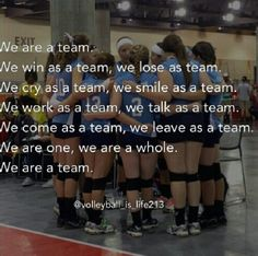 #3 day 3. I'm a volleyball player. And I know the impact of what a team does in a life. Always be strong #teams