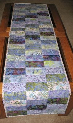 Batik Table Runner by PicketFenceFabric on Etsy, $37.95