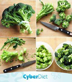 Congele seu brócolis! Para congelar o legume pegue uma faquinha com ponta fina e separe as flores do talo e reserve-os. Coloque as florezinhas no saquinho, retire o ar e congele. Agoram se você tem o costume de jogar o talo fora, a nossa dica é armazená-los e usá-los para o preparo de sopas e caldos. Mais dicas como essa em: https://facebook.com/cyberdietoficial