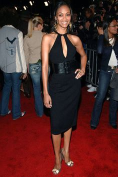 Saldana wears another little black dress on the red carpet for the Mission: Impossible III premiere in New York.