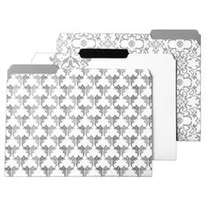 I love #office supplies. The Container Store > Baroque Letter-Size Interior File Folders