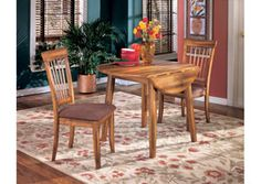 Round Dining Table Set: Round Dining Room Drop Leaf Table Dining Side Chair - 1 box (pack of Materials: Wood Veneers Color: Rustic Brown Dimensions: Dining Table - x x Chair - x x Weight: 99 lb. Kitchen Table Bench, Dining Room Bench, Dining Room Sets, Dining Room Furniture, Dining Chairs, Side Chairs, Kitchen Nook, Mission Furniture, Office Furniture