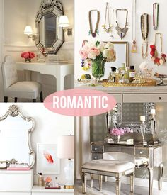 Makeup Vanity Inspirations. The style is relaxing, femine, romantic and sophistocated