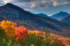 White Mountains at Bartlett, New Hampshire