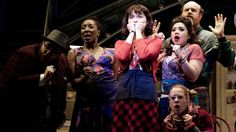 """Phillipa Soo and the cast of """"Amélie, A New Musical"""" at the Ahmanson Theatre in Los Angeles. (Mariah Tauger / Los Angeles Times)"""