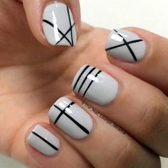 Simple Line Nail Art Designs You Need To Try Now line nail art design, minimalist nails, simple nails, stripes line nail designs Line Nail Designs, Simple Nail Art Designs, Nail Polish Designs, Easy Nail Art, Cool Nail Art, Nails Design, Easy Designs, Pedicure Designs, Pretty Designs