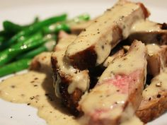 Steak Strips with Peppercorn Sauce