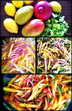 Ceviche vegetariano de mango