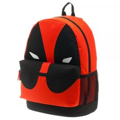 Deadpool: Marvel Deadpool Backpack This Marvel Deadpool mask backpack is an instant classic. This backpack has a zip closure with a front pocket that includes a zipper with mesh side pockets and adjus