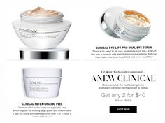 Discover top-rated Anew Clinical on sale now. Any 2 for $40, that is a saving of $6.00 to as much as $30.00 off. Stock up on your favorites!  #avonrep #avonanew #shopavon #anewclinical #anew