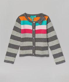 Love this Nine Iron Stripe Cardigan - Toddler & Girls by Blanc de Blanc on #zulily! #zulilyfinds
