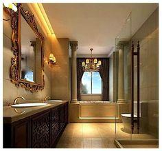 Modern floor design Patterned Floors and Navy Walls Leovan Design: Interior Design Styles Bathroom Renovations Sydney, Home Renovation, Bathroom Remodeling, Bathroom Flooring, Floor Design, House Design, Feng Shui House, Interior Styling, Interior Design