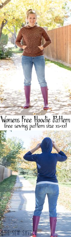 free sewing patterns womens hoodie pattern from Life Sew Savory