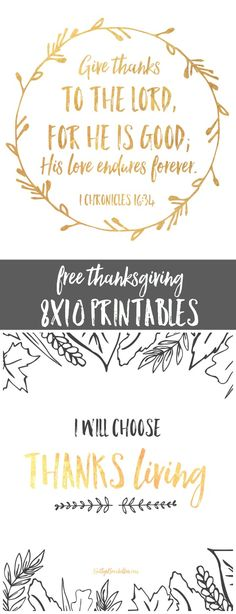 free 8x10 thanksgiving printables