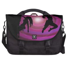 women bouldering, abstract sky, laptop bag