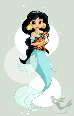 Tumblr Disney Princesses as Mermaids | Disney Princesses as Mermaids - Jasmine