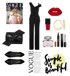 """""""simple is beautiful"""" by devinovitawidiyanti on Polyvore featuring Roland Mouret, Yves Saint Laurent, Victoria Beckham, Ross-Simons and Gucci"""