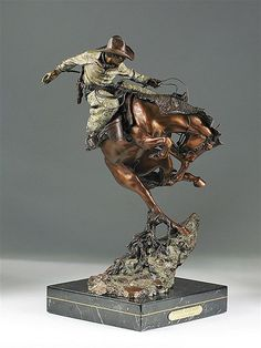 """Attitude Adjustment"" rodeo sculpture by Austin Barton"