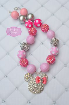 Minnie Mouse Rhinestone  Bling Bow Bowtique by AppleBearyBowtique, $19.00