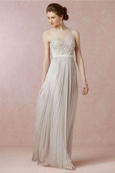 off-white illusion neckline wedding dress