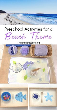 Teaching an ocean or beach theme with preschool kids this summer? This roundup has so many Montessori ocean themed ideas that your kids will love to do! Beach Theme Preschool, Beach Activities, Preschool Themes, Montessori Activities, Summer Activities For Kids, Preschool Crafts, Toddler Activities, Preschool Lessons, Teaching Kindergarten