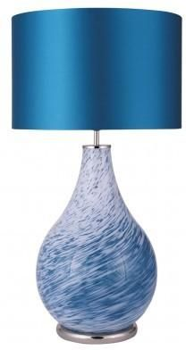 Teal Swirl Lamp from Puji | Table lamps - furnish.co.uk