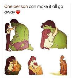 Beautiful Hulk meme about Love