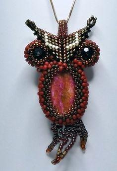 Owl from beads. $50.00, via Etsy.