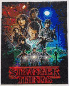 Stranger Thinks - TV poster perler bead art by iamtorsoul