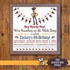Toy Story Birthday Invitation ... Hey Howdy by TheHoneyBeePress, $15.00