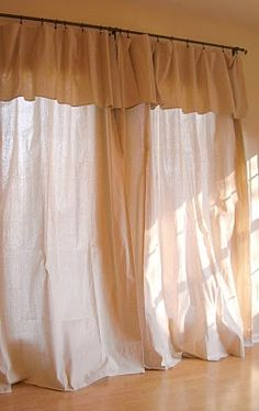canvas drop cloth curtains for winter (a la pottery barn) I have these for my beach bathroom shower curtain. and my bedroom curtains they work great for couch covers too