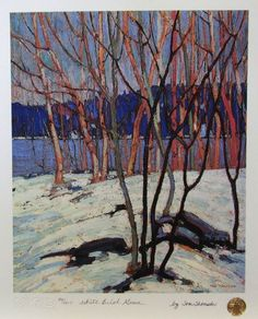 Tom Thomson (Canadian, 1877 – Canadian Group of Seven Emily Carr, Canadian Painters, Canadian Artists, Landscape Art, Landscape Paintings, Impressionist Landscape, Tom Thomson Paintings, Group Of Seven, Art Moderne