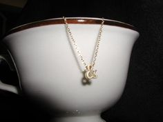 Tiny Initial Necklace Ampersand Gold Letter by luvswoodencars2, $17.00