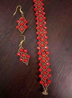 Beaded ornaments - new season bijouterie Bead Jewellery, Seed Bead Jewelry, Jewelery, Beaded Bracelet Patterns, Beaded Earrings, Collar Tribal, Jewelry Crafts, Handmade Jewelry, Motifs Perler