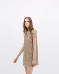 DRESS WITH EMBROIDERED SEQUINS from Zara