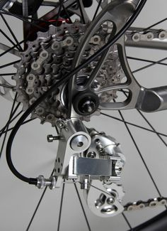 That is a sweet derailleur. Firefly Bicycles Monster Cross NOS MTB Bmx, Mtb Bike, Road Bike, Bicycle Garage, Bicycle Parts, Cool Bicycles, Cool Bikes, Kayaks, Bike Shelter