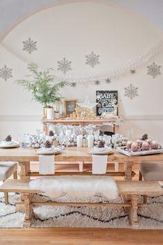 Winter Wonderland Dining Room Tour