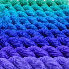 Parade  Cool Color Progression Yarn Set by colorshiftyarn on Etsy, $63.55